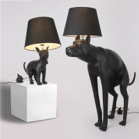 Art floor lamp of dogs pooping