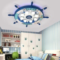 Mediterranean rudder style ceiling lamp children room lamp