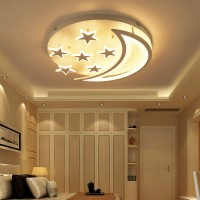 Star and moon led ceiling lamp children room Lamp