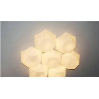 Riccardo Giovanetti Diamond Wall Lamp of Seven Heads