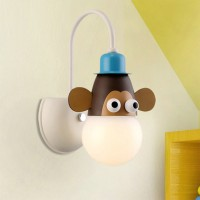 Cartoon monkey wall lamp children room lighting