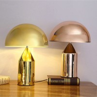 Oluce Atollo Style Table Lamp made of metal in small size