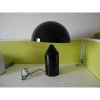 Black Oluce Atollo Style Table Lamp made of metal in large size