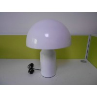 White Oluce Atollo Style Table Lamp made of metal in large size