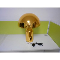 Golden Oluce Atollo Style Table Lamp made of metal in large size