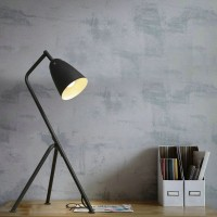 Serge Mouille Style Matte Iron Landing Lampadaire Table Lamp